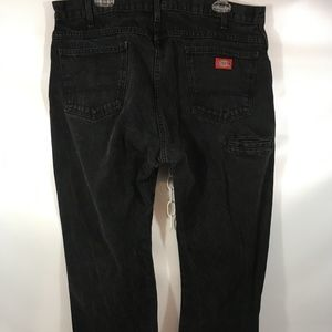 Dickies High Rise Straight Leg Black Denim Jeans